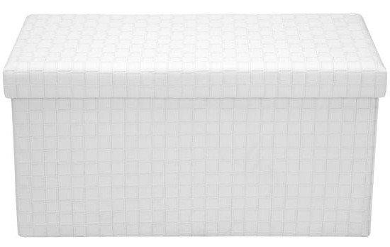 Page Rectangular Storage Ottoman White