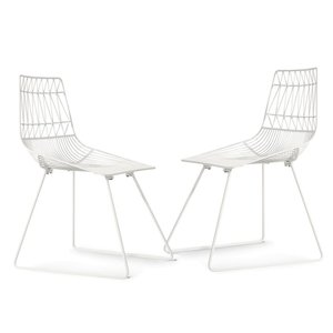 Almaa Metal Dining Chair White (Set of 2)