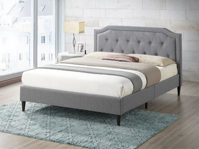 Elgin Tufted Queen Size Bed Gray