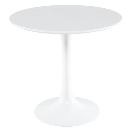 """Daisy 31"""" Round Dining Table Wood Top White"""
