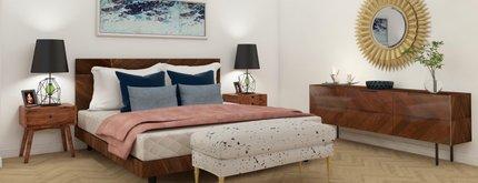 LA Geometric Mid-Century Modern Bedroom