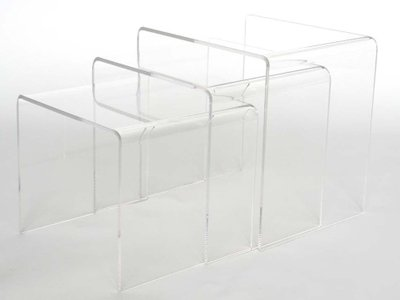 Nesting Accent Table Clear (Set Of 3)
