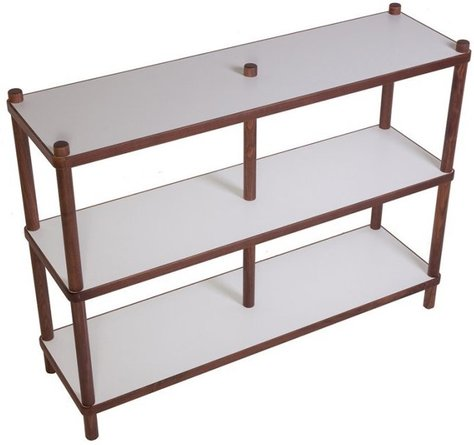 Sean Dix Shelf White And Walnut