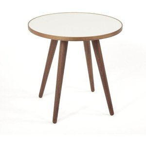 The Sputnik Side Table Walnut/White