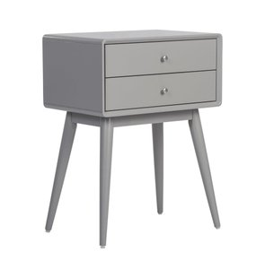 Rory Two Drawer Side Table French Gray