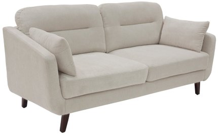 "Becrux 73"" Sofa in Ivory"