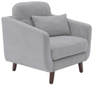 Becrux Arm Chair in Smoke Gray