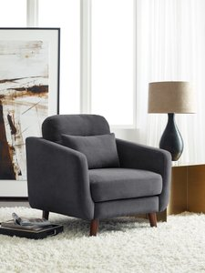 Becrux Arm Chair in Slate Gray