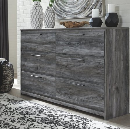 Musca 6 Drawer Double Dresser Gray