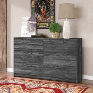 Musca 6 Drawer Double Dresser