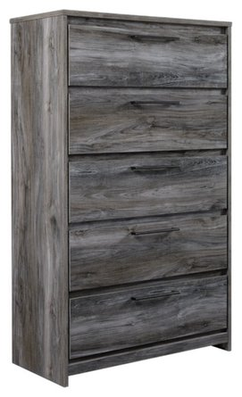 Musca 5 Drawer Chest Gray