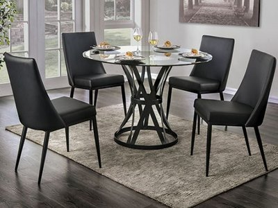 Porrima Round Dining Table Black