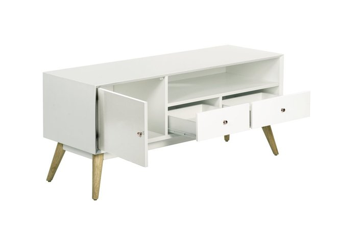 Lilou Media Console French White