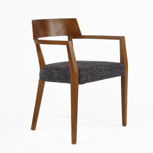 The Sittard Arm Chair Walnut And Dark Gray