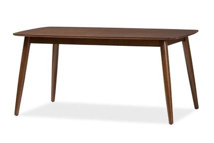 Baxton Studio Flora Dining Table Oak Medium Brown
