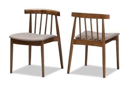 Wyatt Dining Chair Beige And Walnut (Set Of 2)
