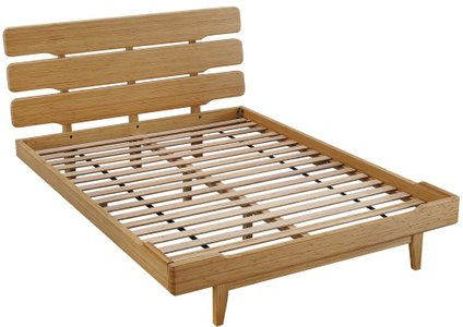 Currant Platform Queen Bed Caramelized