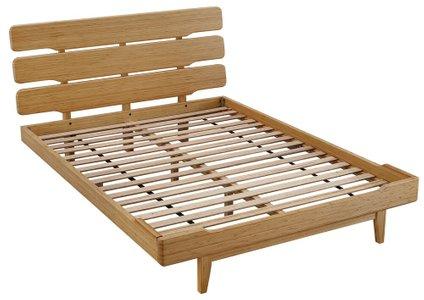 Currant Platform California King Bed Caramelized