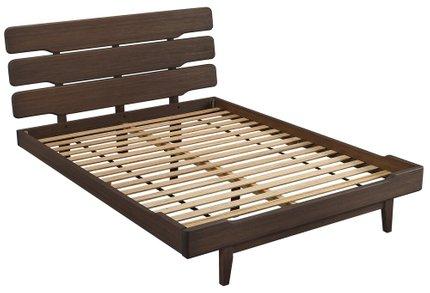 Currant Platform California King Bed Oiled Walnut