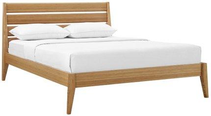 Sienna Platform Queen Bed Caramelized