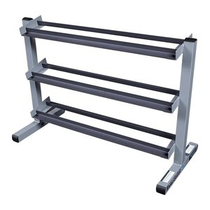 3-Tier Dumbbell Rack Silver