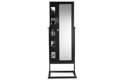 Standing Jewelry Armoire Cabinet Black