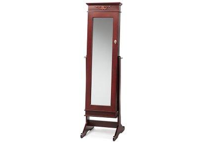 Bimini Free Standing Mirror Jewelry Armoire Brown