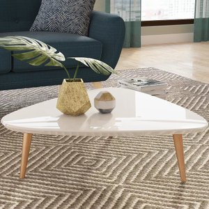 Kennon Coffee Table with Splayed Legs Off-White