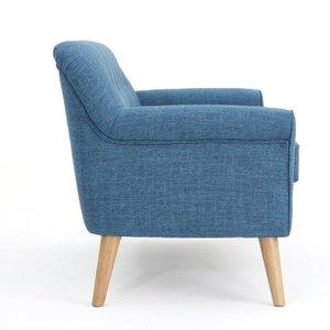 Emily Mid Century Modern Loveseat Muted Blue