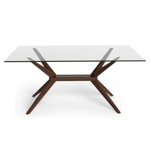 Kaiser Beechwood Dining Table Glass