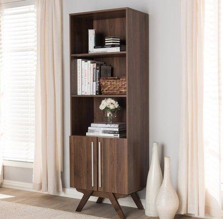 Sag Standard Bookcase Walnut Brown
