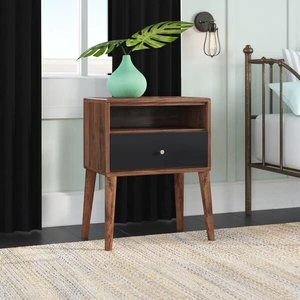 Scott 1 Drawer Nightstand Brown