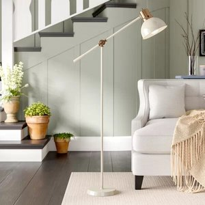 "Gettys Metal 58"" Task Floor Lamp White"