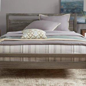 Loft Queen Platform Bed Pine
