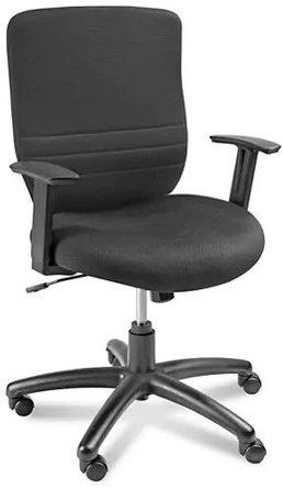 Foam Padded Mesh Chair Black