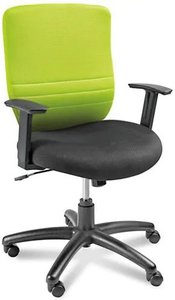 Foam Padded Mesh Chair Lime Green