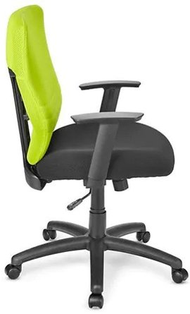 Foam Padded Mesh Chair Lime Green