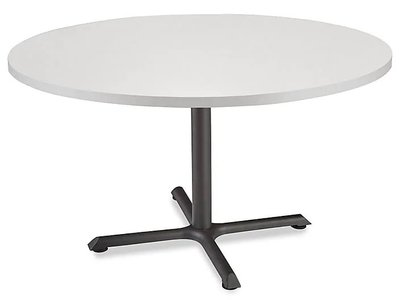 """Round 42"""" Cafe Table Light Gray"""