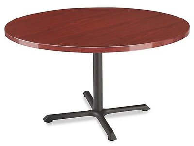 """Round 42"""" Cafe Table Mahogany"""