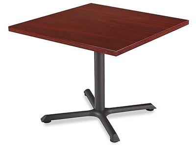 """Square 36"""" Cafe Table Mahogany"""