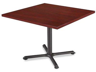"""Square 42"""" Cafe Table Mahogany"""