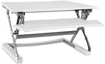 Sit-Stand Desktop Riser Medium White