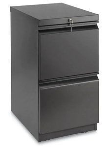 "Mobile Pedestal File Cabinet 2 Drawer 28"" Black"