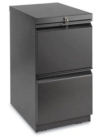 """Mobile Pedestal File Cabinet 2 Drawer 28"""" Black"""