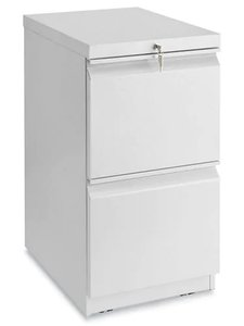 Mobile Pedestal File Cabinet 2 Drawer Light Gray