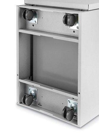 Mobile Pedestal File Cabinet 2 Drawer Light Gray