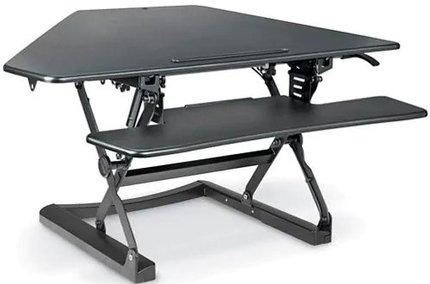 Sit-Stand Desktop Riser Corner Black