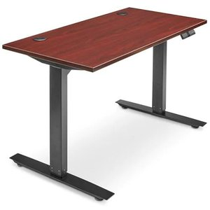Adjustable Height Desk 48 x 24 Mahogany