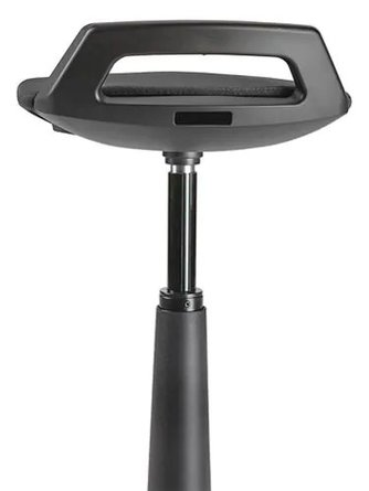 Office Sit-Stand Stool Black