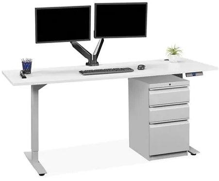 Adjustable Height Desk 72 x 30 White